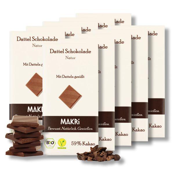 10er Set - MAKRi Dattel Schokolade - Natur 59%