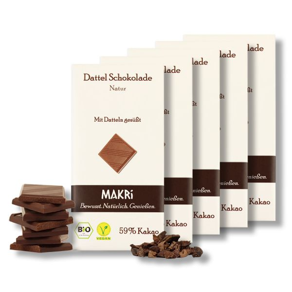 5er Set - MAKRi Dattel Schokolade - Natur 59%