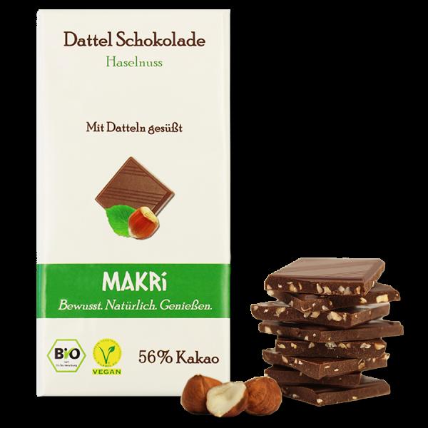 MAKRi Date Chocolate - Hazelnut 56%