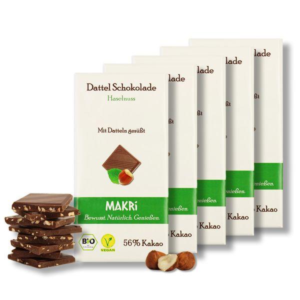 Set of 5 - MAKRi Date Chocolate - Hazelnut 56%