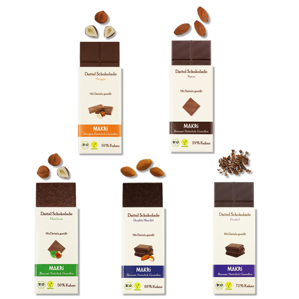 Set of 5 - MAKRi Date Chocolate - Small trial package