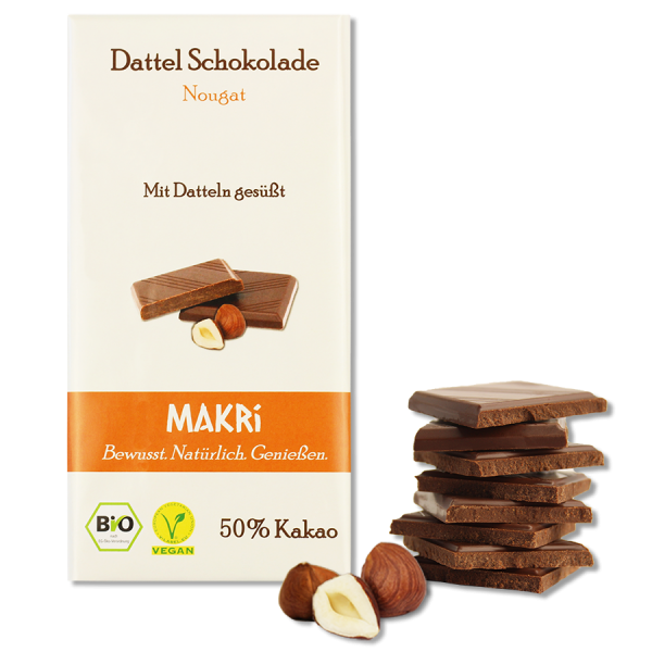 MAKRi Dattel Schokolade - Nougat 50%