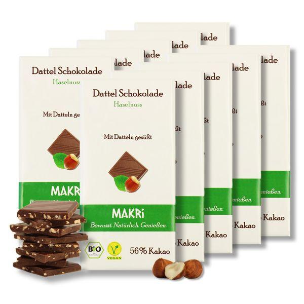 Set of 10 - MAKRi Date Chocolate - Hazelnut 56%